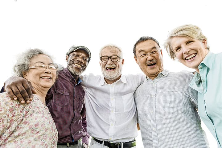Image of a group of multicultural older adults to introduce the PARaDIGM Paradigm